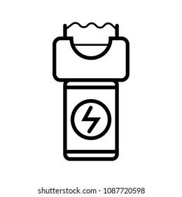 electroshock weapon vector icon