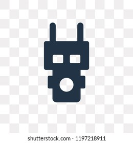 Electroshock weapon vector icon isolated on transparent background, Electroshock weapon transparency concept can be used web and mobile