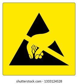 Electrostatic Sensitive Device (ESD) Symbol Sign, Vector Illustration, Isolated On White Background Label .EPS10