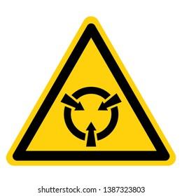 Electrostatic Sensitive Device (ESD) Symbol Sign, Vector Illustration, Isolate On White Background Label .EPS10