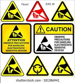 Electrostatic Sensitive Devices Symbols