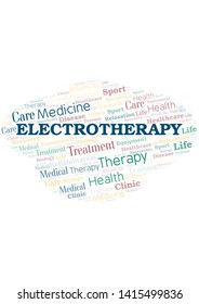 Electrotherapy word cloud. Wordcloud made with text only.