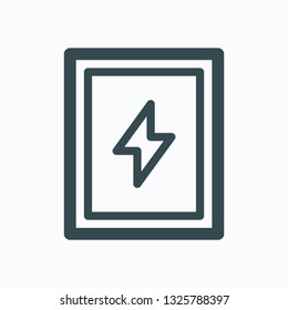 Electro-welded rectangular steel tubes vector icon
