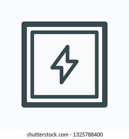 Electro-welded square steel tubes vector icon