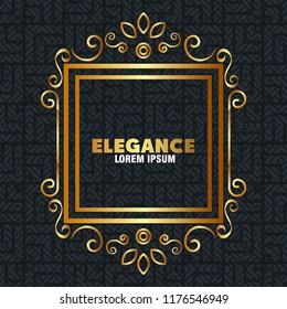 elegance style golden frame