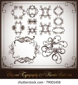 elegance typographic & border collection