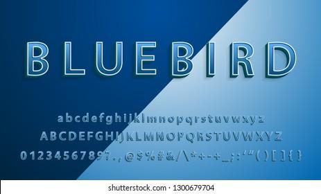 A Elegant 3d Bold Font Effect With Highlight & Shadow Effect Modern vector alphabet