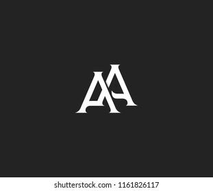 Elegant AA Letter Linked Monogram Logo Design
