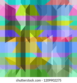 Elegant abstract background multicolored simple poligonal seamless.
