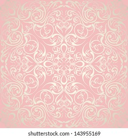 Elegant abstract floral wallpaper, seamless. Wedding design
