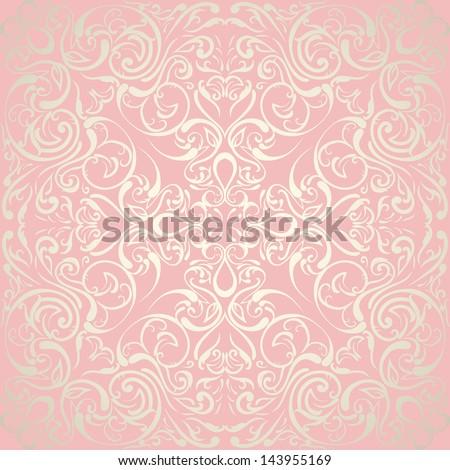 Elegant Abstract Floral Wallpaper Seamless Wedding Design