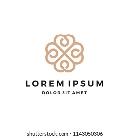 Elegant Abstract Flower logo Design
