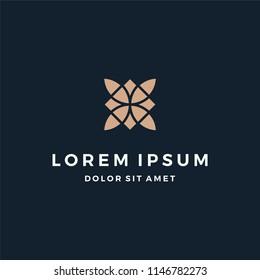 Elegant Abstract Ornament Logo Design