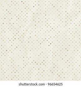 Elegant aged and worn paper with polka dots. And also includes EPS 8 vector