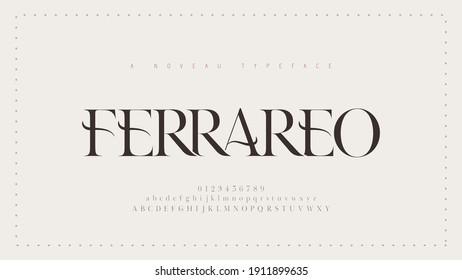 Elegant alphabet letters classic font. Classic Modern Serif Lettering Minimal Fashion Designs. Typography  decoration fonts for branding, wedding, invitations, logos. vector illustration