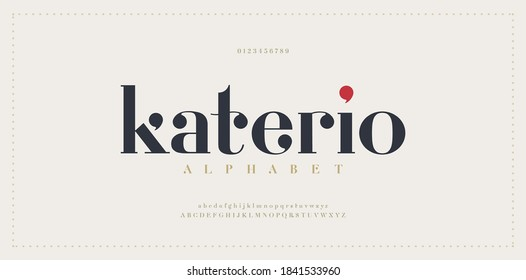 Elegant alphabet letters font. Classic Modern Serif Lettering Minimal Fashion Designs. Typography decoration fonts for branding, wedding, invitations, logos. vector illustration
