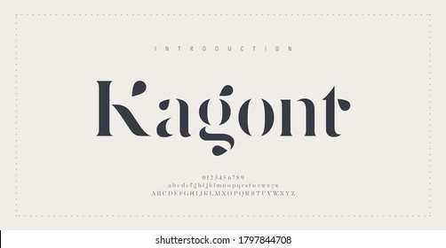 Elegant alphabet letters font and number. Classic Lettering Minimal Fashion Designs. Typography modern serif fonts and numbers. vector illustration