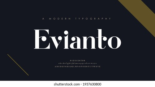 Elegant alphabet letters font and number. Classic Lettering Minimal Fashion Designs. Typography modern serif fonts decorative vintage design concept. vector illustration - Shutterstock ID 1937630800