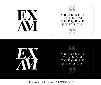 Elegant alphabet letters set. Classic Custom Lettering Designs for logo, Poster, Invitation, etc. Typography font classic style, regular and italic. vector illustrator