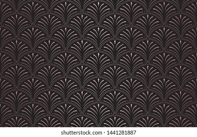 Elegant Art Deco Vector Background. Seamless Abstract Pattern. Vintage Illustration.