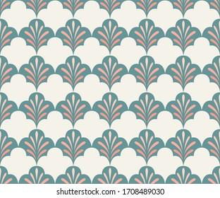 Elegant art nouveau seamless pattern. Abstract minimalist background. Geometric art deco texture.