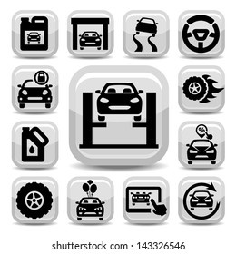 Elegant Auto Icons Set Created For Mobile, Web And Applications.