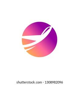 Elegant avia service logo design. Vector image.