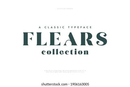Elegant awesome alphabet letters font and number. Typography fonts regular uppercase. vector illustration