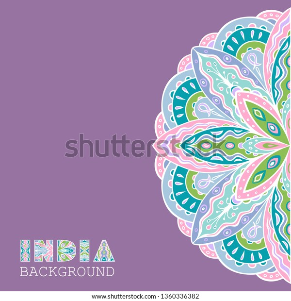 Elegant Background Semicircle Ethnic Indian Pattern