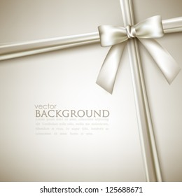 elegant background with white bow