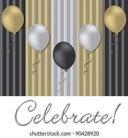 Elegant balloon celebration card in vector format.