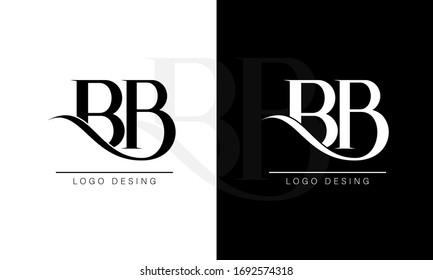 Elegant BB Letter Linked Monogram Logo Design
