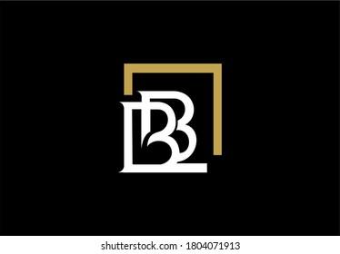 Elegant BB Letter Linked Rectangle Shape Monogram Logo Design