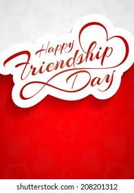 Elegant beautiful card design for friendship day. vector illustration