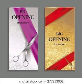 elegant Big opening invitation cards with floral design