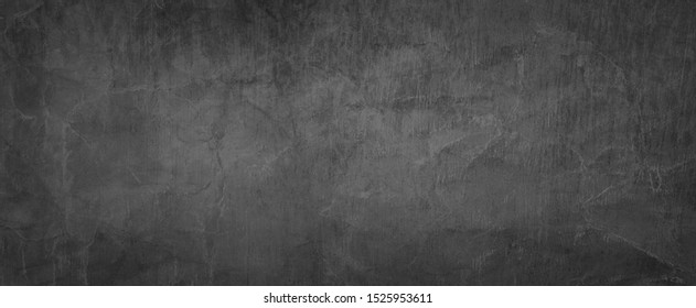 Elegant black background vector illustration with vintage distressed grunge texture and dark gray charcoal color paint, old crumpled paper