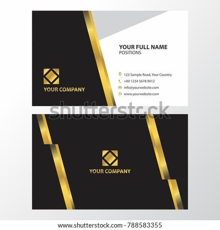 Elegant Black Gold Color Business Card Stock Vector Royalty Free