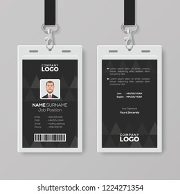 Elegant Black ID Card Design Template