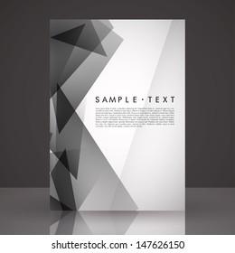 Elegant Black and White Flyer Template   EPS 10 Vector