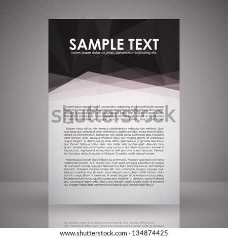elegant black white flyer template eps stock vector royalty free
