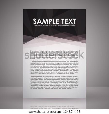 elegant black white flyer template eps のベクター画像素材