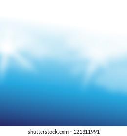 Elegant Blue Background - Vector Illustration, Graphic Design Editable For Your Design. Beautiful Background For Business Brochure.