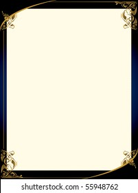 Elegant blue gold background 2 - vector