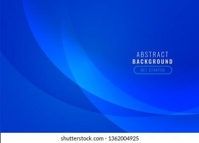 elegant blue wave banner background