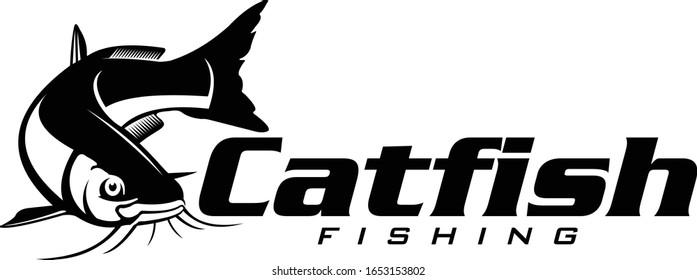 Elegant and Bold Catfish Logo,