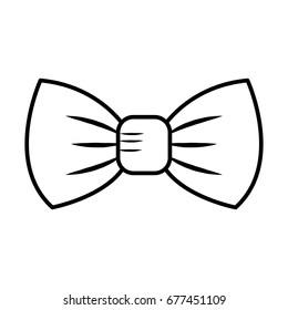 elegant bowtie isolated icon