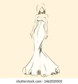 Girls Dress Sketch Images Stock Photos Vectors Shutterstock