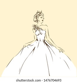 Bride Drawing Images Stock Photos Vectors Shutterstock