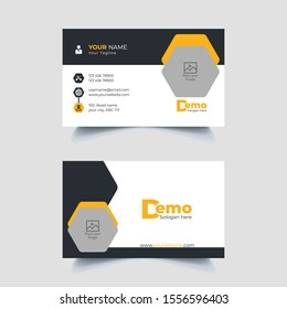 Elegant Business Card With Photo