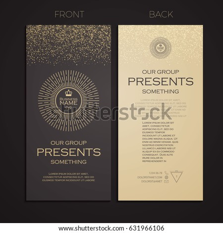 Elegant Business Card Template Cover Booklet Stock Vector Royalty
